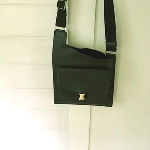 PRADA LEATHER crossbody messenger